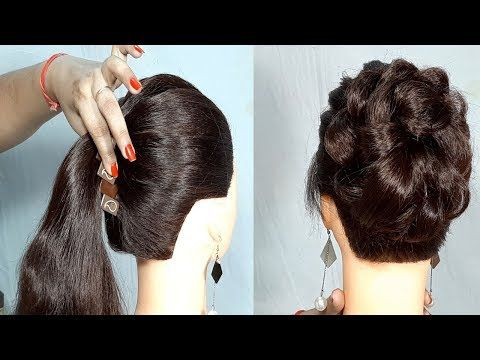 New Simple Hairstyle Using Banana Clutcher Messy Bun Hairstyle With Trick Easy Hairstyles Youtube New Simple Hairstyle Bun Hairstyles Easy Bun Hairstyles