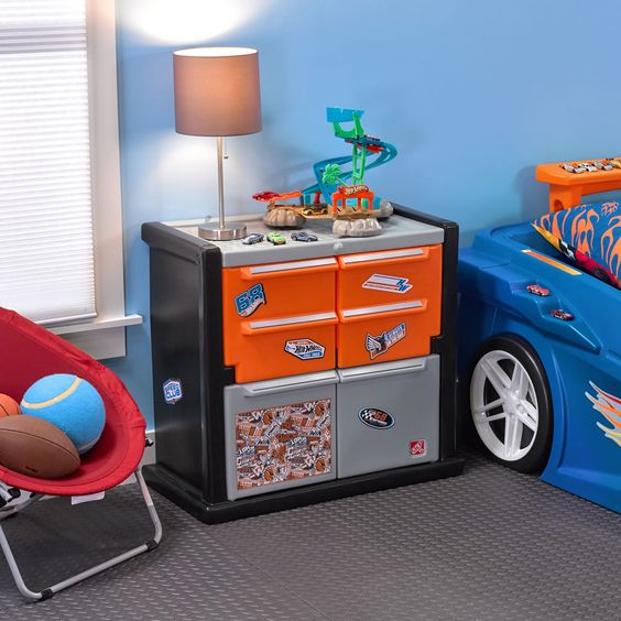 Hot Wheels Race Car Dresser Toy Boxes Storage Hot Wheels Room Decor Hot Wheels Bedroom Hot Wheels Room