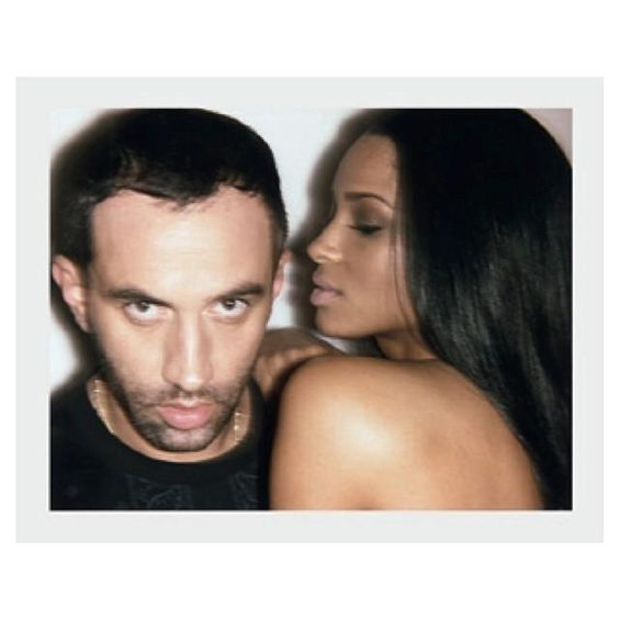 Riccardo Tisci and Ciara in Self Service Magazine