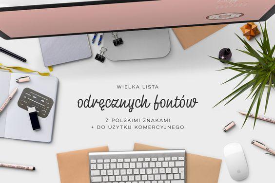 Odreczne fonty polskie znaki piękne fonty z polskimi znakami