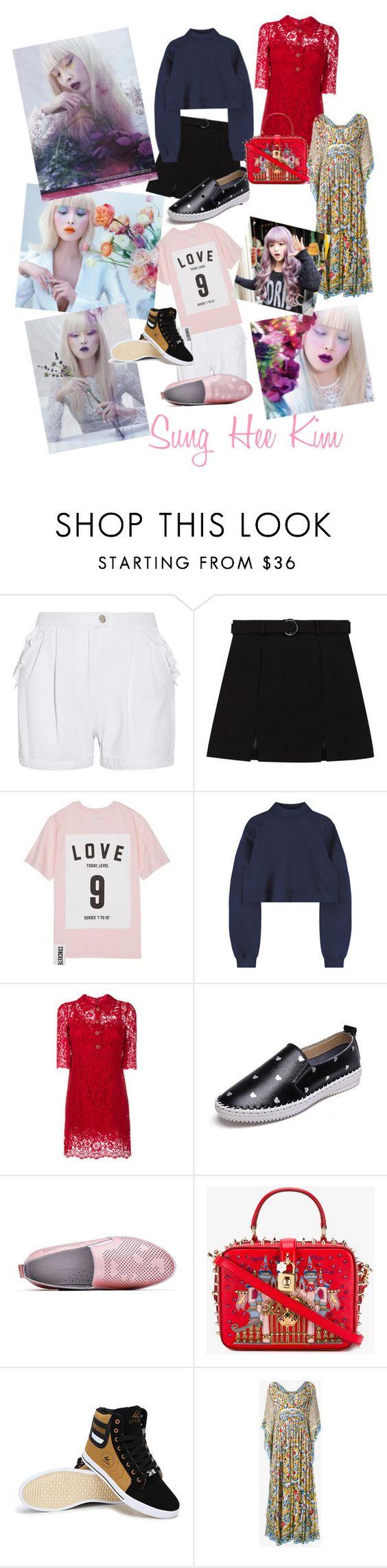 """Korean Inspired- Sung Hee Kim"" by maryann-bunt-deile ❤ liked on Polyvore featuring Steve J & Yoni P, Studio Concrete, Dolce&Gabbana and GABALMANIA"