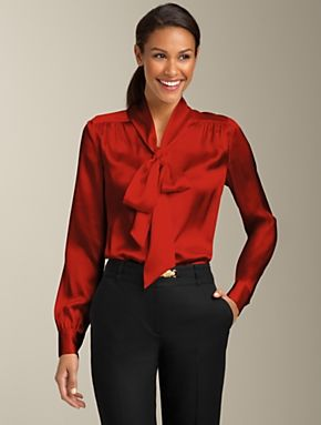 opaque secretary blouse
