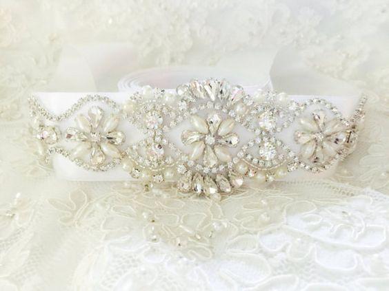 """Wedding Sash Bridal Belt Wedding Sash Belt by """"I Do"""" Wedding Boutique www.idoweddingboutique.etsy.com #bridalsash #bridalbelt #sash #belt #rhinestonesash #rhinestone #bride #bridal #brides"""