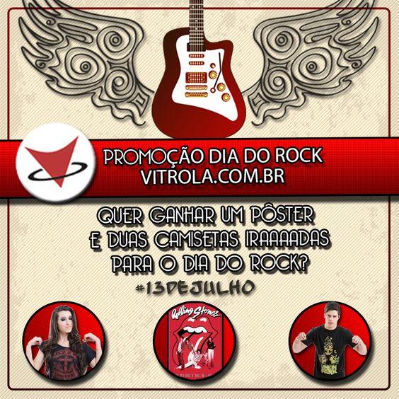Em comemoração ao Dia Internacional do Rock, a Vitrola.com.br traz uma MEGA PROMOÇÃO para quem curte o bom e velho Rock'n'Roll!!  - Curta a Fanpage Vitrola - www.facebook.com/vitrolacombr - Curta e Compartilhe a postagem em modo público, marcando o nome da sua banda favorita - Cadastre-se para o sorteio no link que está no corpo da postagem - O sorteio será realizado no dia 13 de julho, às 17:00hs  Link para participar o sorteio: sorteiefb.com.br/tab/promocao/466874  Boa Sorte e Muito Rock…