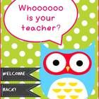 fun pack for Meet the Teacher Night free for a limited time