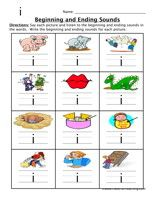 Printables Beginning And Ending Sounds Worksheets beginning and ending sounds worksheet activities words have fun teaching