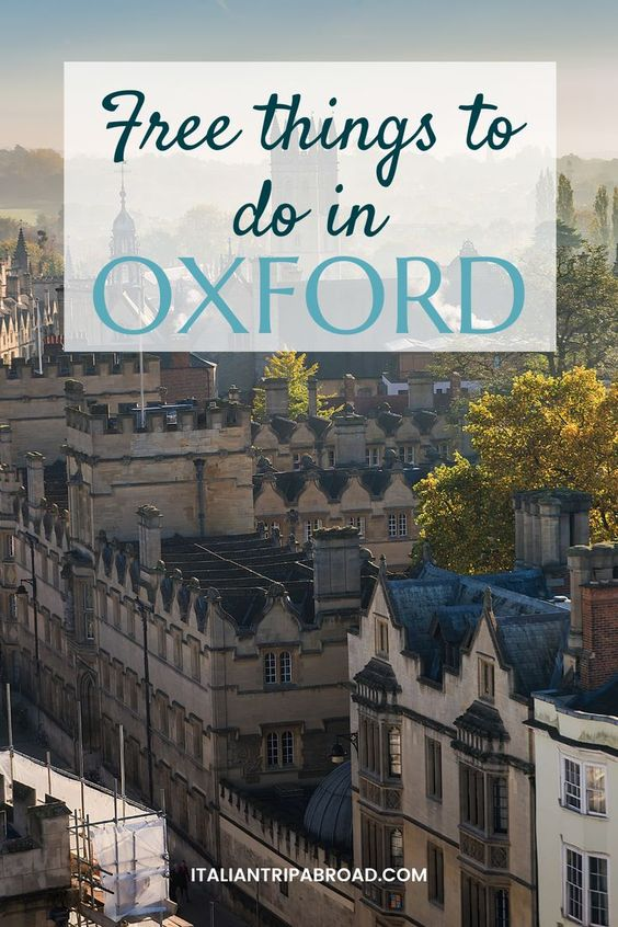 Free things to do in Oxford