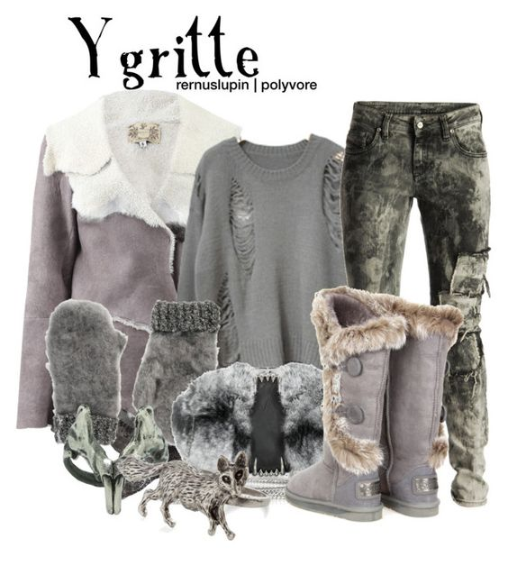 """""""Ygritte"""" by rernuslupin ❤ liked on Polyvore featuring Nigel Preston & Knight, Diesel Black Gold, ASOS, Maison Du Posh, Emilie Morris and Australia Luxe Collective"""