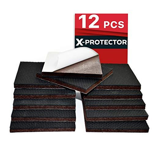 """Premium 8 pcs 2/"""" Furniture Pads Non Slip Furniture Grippers X-PROTECTOR Best SelfAdhesive Rubber Feet for Furniture Feet Ideal Non Skid Furniture Floor Protectors for Fixation in Place Furniture"""