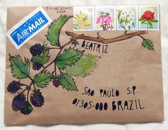Mail art – fruits of the forest