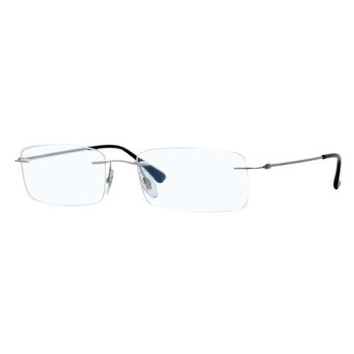 Rimless Eyeglass Frames Problems : Ray-Ban Glasses 8680 1127 Demi Shiny Gunmetal 8680 Rimless ...