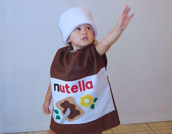 kids costume nutella halloween costume hazelnut spread. Black Bedroom Furniture Sets. Home Design Ideas
