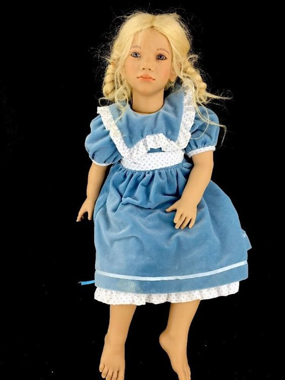"1994/95 Annette Himstedt Doll ALKE Norway 27"" Original Clothing Puppen Kinder #DollswithClothingAccessories"