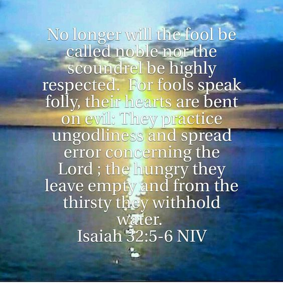 Image result for Isaiah 32:5