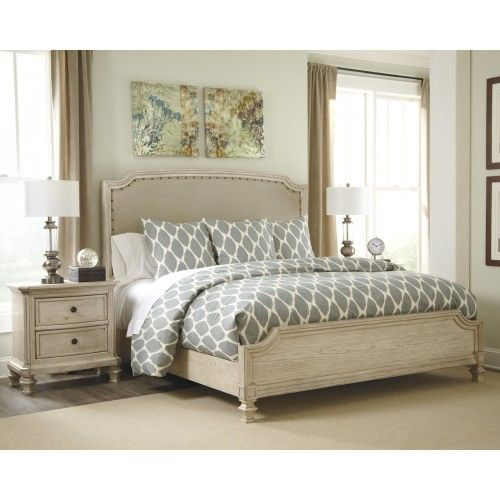 Demarlos 4pc Upholstered Panel Bedroom Set In Parchment White Ashley In 2021 Bedroom Furniture Sets Ashley Furniture Bedroom Upholstered Panel Bed