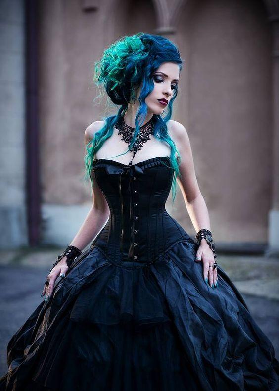 Model, make-up, hair, edit: Daedra Photographer: Katarzyna Duk Dress: Devilnight Welcome to Gothic and Amazing  www.gothicandamazing.com