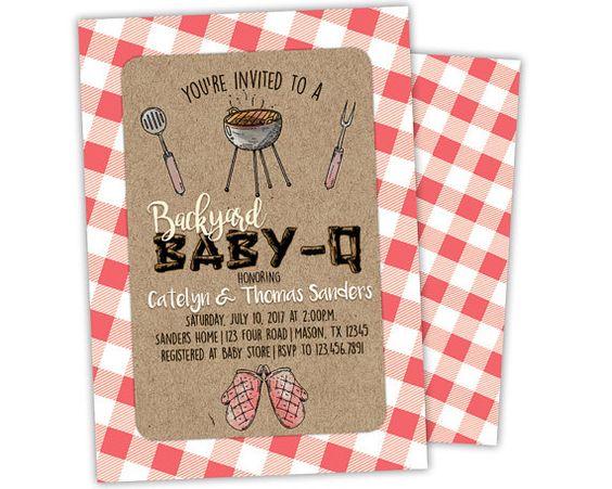 bbq baby shower invitation - baby-q baby shower invite - babyq, Baby shower invitations