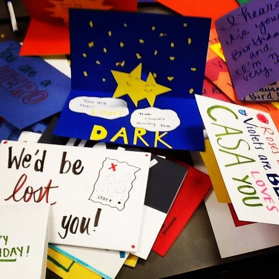 Cards for our Advocates made by the #thetaservicetrip