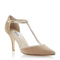DUNE LADIES Multi CANDELABRA - Two-Part Ankle Strap Kitten Heel Pump | Dune Shoes Online
