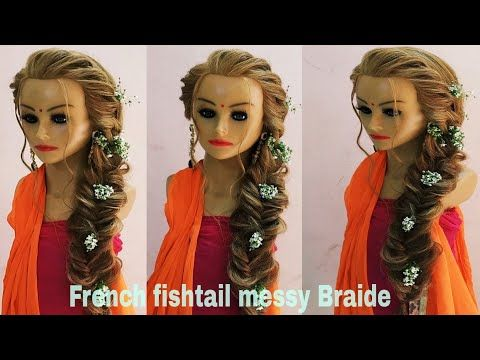 French Fishtail Braid Hairstyle Khajuri Choti Hairstyle How To Make French Fishtail Braid Fishtail Braid Hairstyles French Fishtail Fishtail French Braid