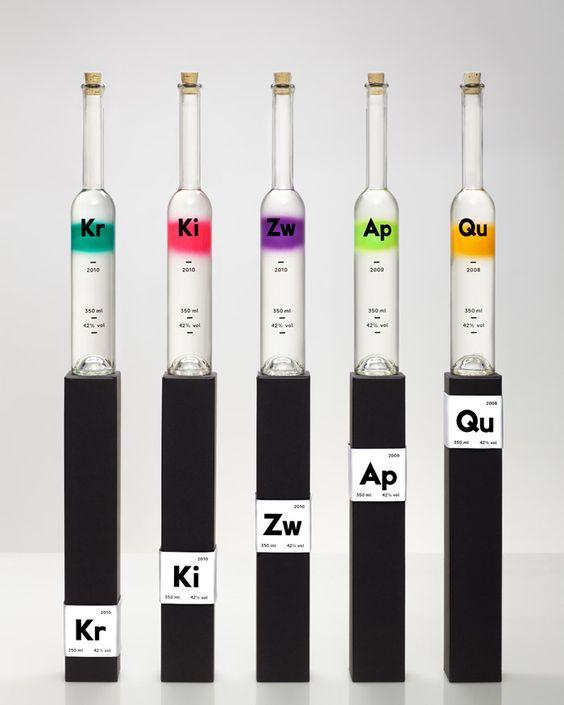 Rezept-Destillate, pure fruit spirits: Designed by Thomas Lehner