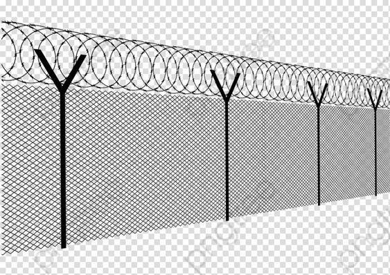Transparent Barbed Wire Fence Png Format Image With Size 1024 724 Barbed Wire Fencing Transparent Barbed Wire