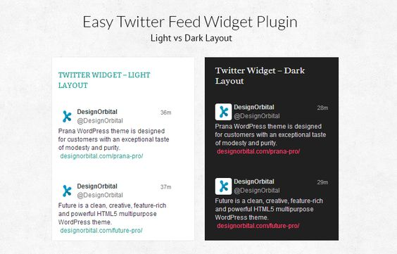 Twitter Feed wordpress