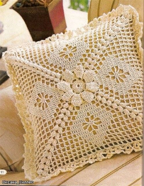 Patrons google and crochet on pinterest - Cojin de crochet ...