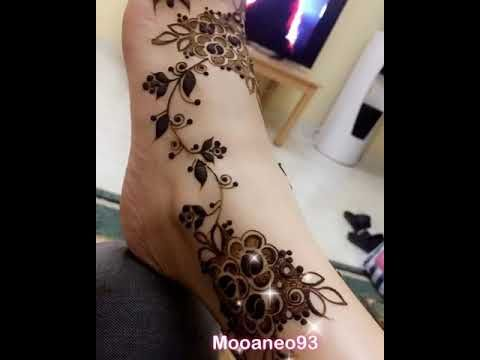 نقش حناء ارجل Youtube Henna Designs Henna Mehndi