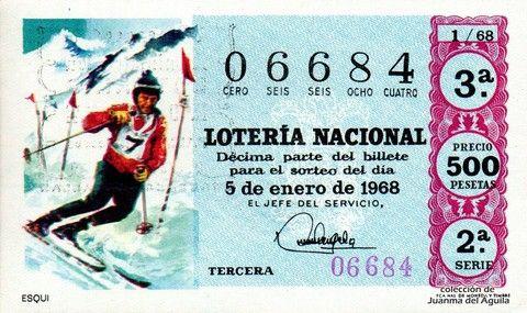 Décimo Del Sorteo Extraordinario De Lotería De El Niño Celebrado El 5 De Enero De 1968 Coleccionismo Loteria Lotería Nacional Loteria Del Niño Lotería