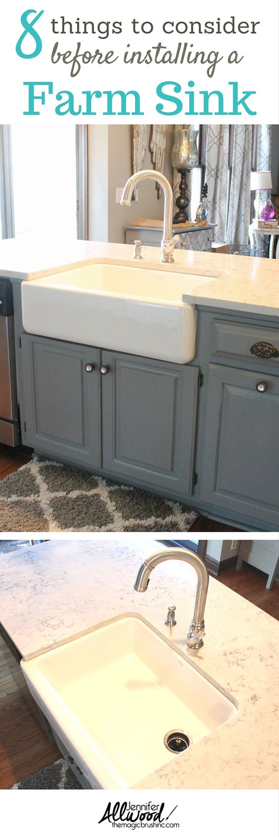 187 kitchen 187 kitchen sinks 187 nativestone 187 farmhouse double bowl - We Recently Updated Our Gray Kitchen With A New Farmhouse Sink We Are Obsessed With