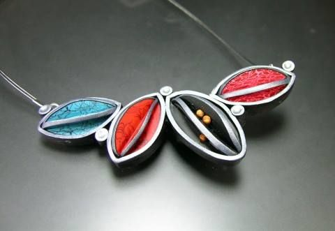 As featured on The Polymer Arts magazine's blog this necklace by Wiwat Kamolpornwijit is a great example of how pods can help your imagination run wild.