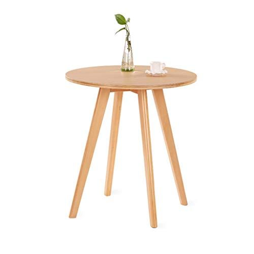 Solid Wood Small Round Table Household Multifunction White Oak Telephone Table Living Room Decoration Sofa Side Sofa Side Table Oak Telephone Table Sofa Decor