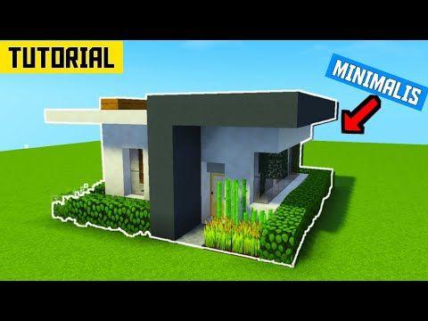 CARA MEMBUAT RUMAH MODERN YANG SIMPLE DI MINECRAFT - TUTORIAL RUMAH MODERN  SIMPLE MINECRAFT - YouTube Di 2020 | Rumah Modern, Minecraft, Modern