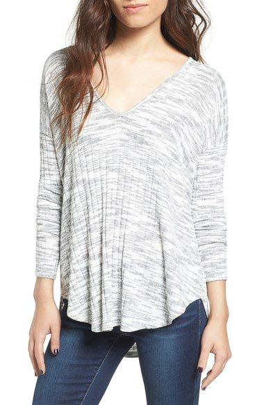 Lush Stripe V-Neck Tee available at #Nordstrom