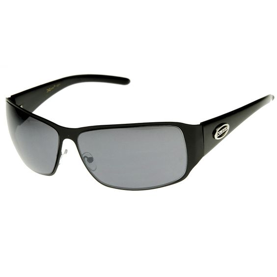 Large Square Metal Frame X-Loop Brand Sports Sunglasses