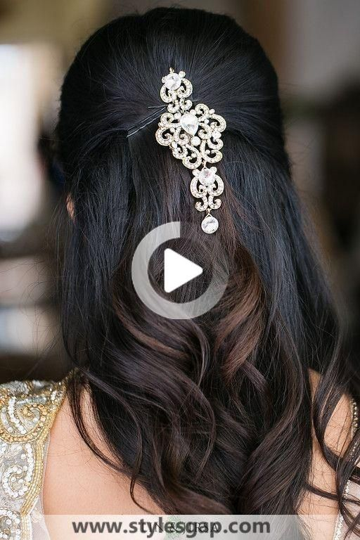 Peinados Coleccion Hermosa Reciente Eid 2020 2021 Para La Mujer In 2020 Indian Wedding Hairstyles Medium Hair Styles Hair Styles