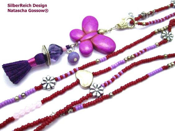 Charm- & Bettelketten - Bettelkette *Schmetterling* 2 in 1 Wechselanhänger - ein Designerstück von SilberReich bei DaWanda