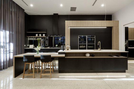 dapur dengan minibar