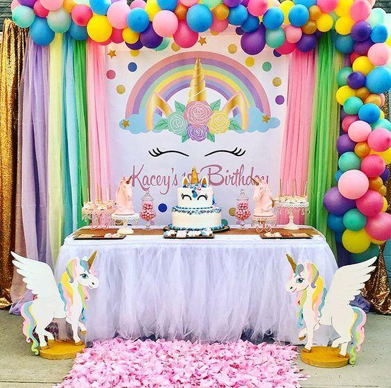 Geniales Ideas Para Fiestas De Unicornios Tarjetas Imprimibles Fiestas Infantiles De Unicornios Decoraciones De Fiesta De Unicornio Decoracion De Unicornio
