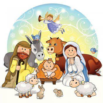 Nacimiento del ni o jesus cuento de navidad navidad - Dibujos de nacimientos de navidad ...