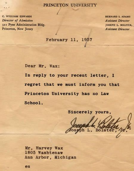 Funniest Rejection Letters  Rejection Letters  School