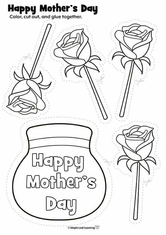 Fete Des Meres Et Peres Mothers Day Crafts For Kids Mothers Day Crafts Mother S Day Printables