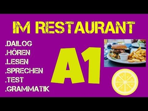 Deutsch Lernen Mit Dailogen Horen Sprechen 25 Dailogen Youtube Learn German German Language Restaurant