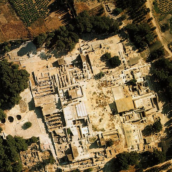 Minoan Palace of Knossos | Aerial View of the Palace of Knossos