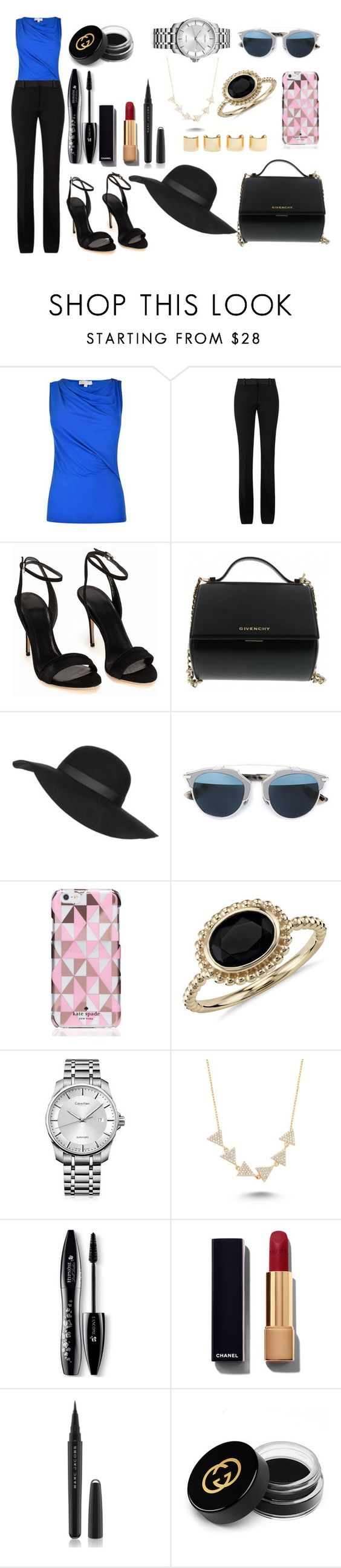 """Sin título #808"" by pinkybunny on Polyvore featuring moda, Victoria Beckham, Givenchy, Topshop, Christian Dior, Kate Spade, Luv Aj, Blue Nile, Calvin Klein y Amorium"
