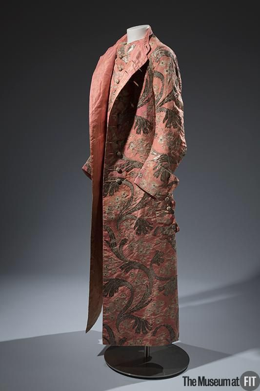 Un banyan maschile ca.1750-1760, Germania in seta e argento. MuseoDamasco Lorsica