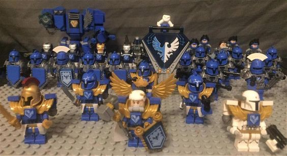 The Armoury: Ultramarines: New smash Captain with assault honor guard, by SpessMarineGuy