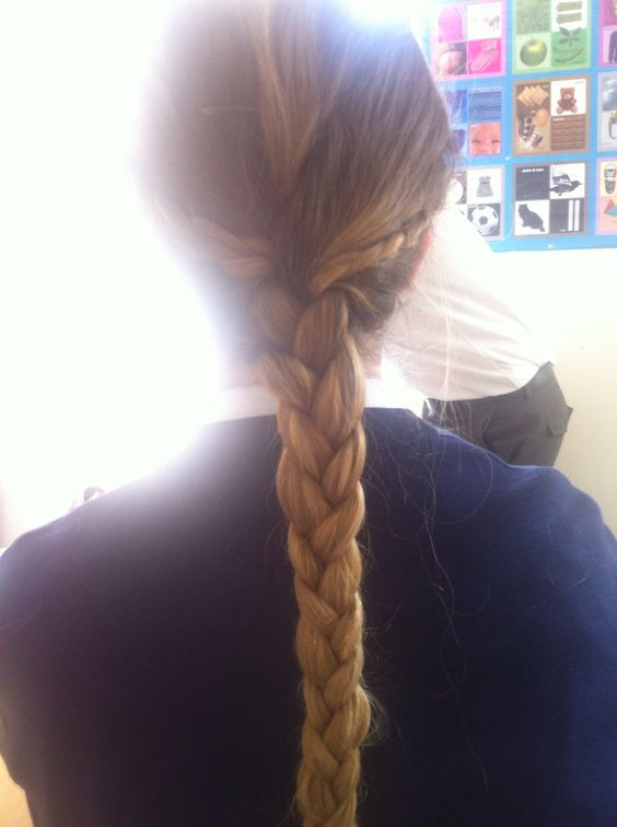 Love this hairstyle one of my friends did in my hair