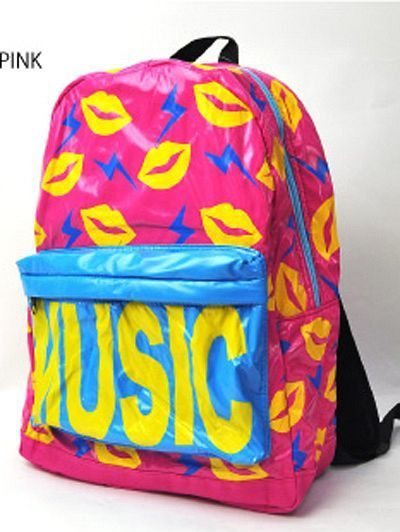 Colorful MUSIC Backpack. http://www.cdjapan.co.jp/apparel/new_arrival.html?brand=LIS